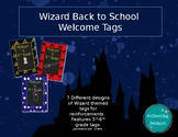 Harry Potter Back to School Welcome Tags