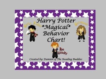 Harry Potter Behavior Chart