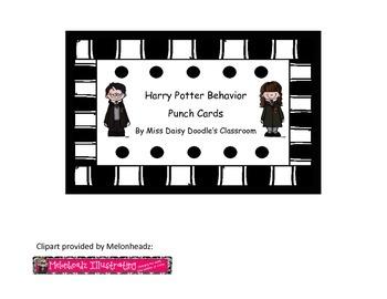 Harry Potter Behavior Punch Cards
