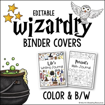 Harry Potter Binder Covers EDITABLE
