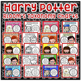 Harry Potter Bloom's Taxonomy Charts - Chevron, Brights, Dots, and BW