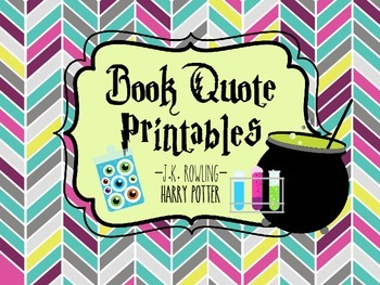 Harry Potter Book Quote Printables
