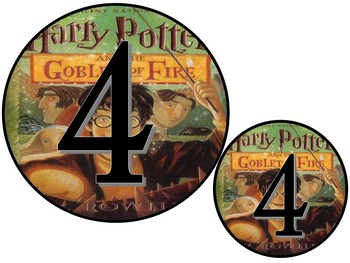 Harry Potter Book Theme Table Numbers