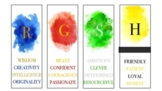 Harry Potter Bookmarks Watercolor