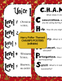 Harry Potter CHAMPS Classroom Management Posters (editable)