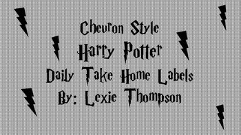 Harry Potter CHEVRON Daily Take Home Folder Labels