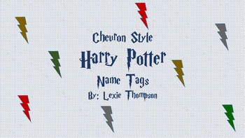 Harry Potter CHEVRON Name Tags