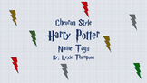 Harry Potter CHEVRON Name Tags
