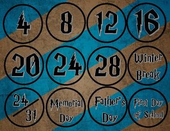 Harry Potter Calendar Days