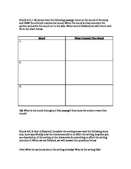 Harry Potter Chapter 1-3 Lesson Plan