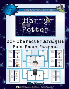 Harry Potter Character Analysis Fold-Ems and Writing Templates