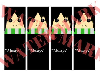 Harry Potter Character Bookmarks (set of 6 characters)