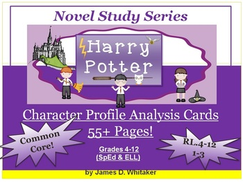 Harry Potter Character Profile Analysis Cards J.K. Rowling