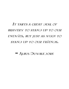 Harry Potter Character Quotes and Signs
