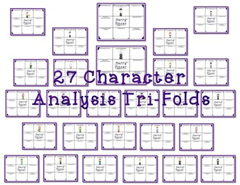 Harry Potter Character and Plot Analysis Tri-Folds