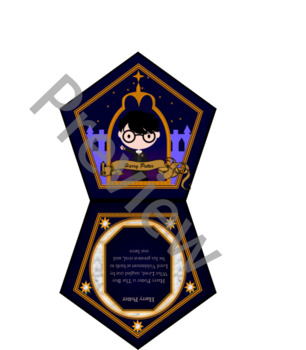 12 Printable Harry Potter Chocolate Frog Cards