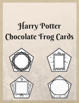 picture regarding Harry Potter Chocolate Frog Cards Printable named Harry Potter Chocolate Frog Playing cards