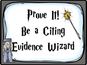 Harry Potter Citing Evidence Posters