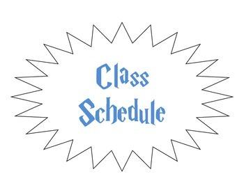 Harry Potter Class Schedule