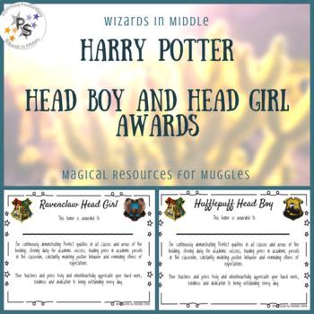 Harry Potter Classroom Awards - Head Boy/Girl