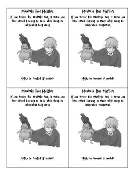 Harry Potter Classroom Behavior