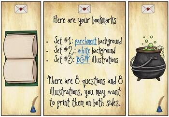 Harry Potter Classroom Bookmarks