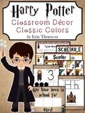Harry Potter Classroom Decor Bundle {Classic Colors} ~ Editable