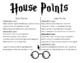 Harry Potter Classroom House Points Rules