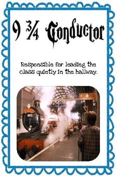 Harry Potter Classroom Jobs-Editable!