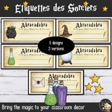 Wizards Classroom Labels - French Edition
