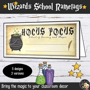 Harry Potter Classroom Nametags