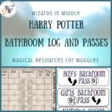 Harry Potter Classroom Pass Log & Passes