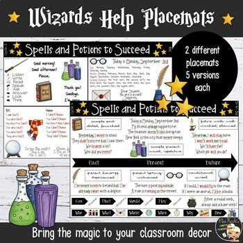 Harry Potter Classroom Placemats