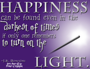 Harry Potter Classroom Poster (Happiness...)