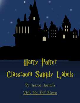 Harry Potter Classroom Supply Labels