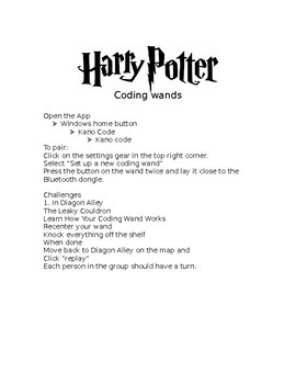 Harry Potter Coding Wand Lesson