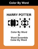 Harry Potter - Color By Word & Color By Word Scramble Worksheets