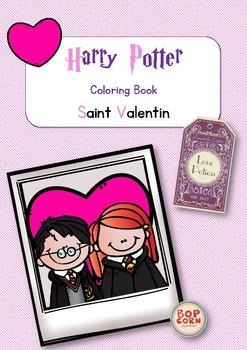 Harry Potter Coloring Book Saint Valentin - Valentine´s day