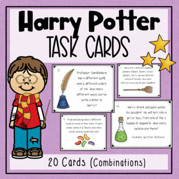 Harry Potter Combinations Task Cards