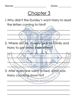 Harry Potter Comprehension Questions