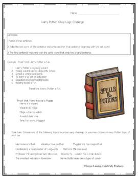 Harry Potter Critical Thinking and Writing Activity