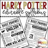 Harry Potter/Daily Prophet Syllabus Template
