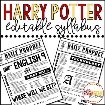 Harry potterdaily prophet syllabus template by the engaging station harry potterdaily prophet syllabus template maxwellsz