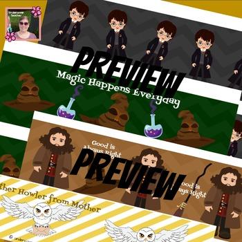 Magical Wizard Decorative Borders (7 Different Designs)