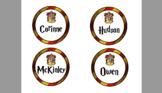Harry Potter Desk Labels