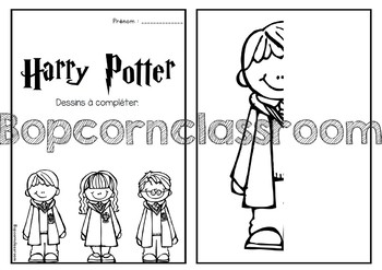 Harry Potter - Dessins à compléter