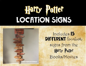 Harry Potter Directional Location Signs - Classroom Sign | TpT