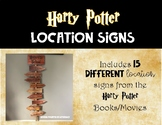 Harry Potter Directional Location Signs - Classroom Sign