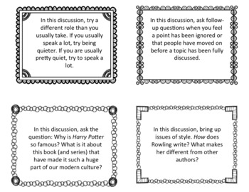 Harry Potter Discussion Role Cards
