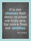 Harry Potter Dumbledore Quotes Posters: Class Decor